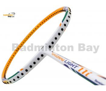 Yonex - Nanoray Light 11i iSeries NR-LT11IEX White Orange Badminton Racket  (5U-G5)
