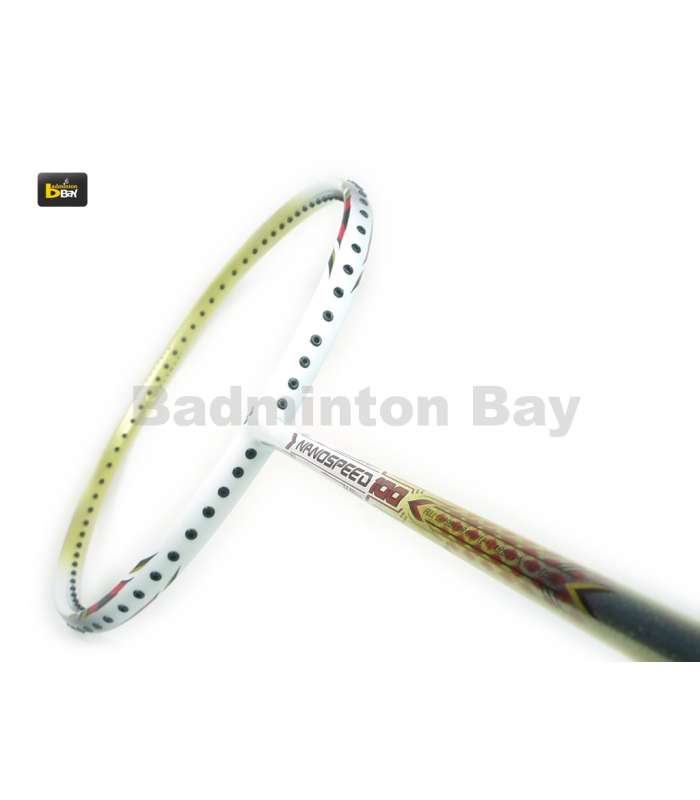 ~Out of Stock~ Yonex NanoSpeed 100 White Red Badminton Racket 3U/G5 - 2012 Design