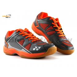 Yonex All England 15 Orange Grey Badminton Shoes In-Court With Tru Cushion Technology