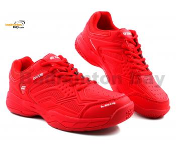 Yonex Drive Badminton Shoes Red In-Court With Tru Cushion Technology