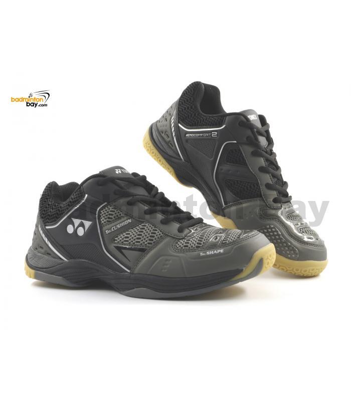 Yonex Aero Comfort 2 Metal Black Badminton Shoes With Tru Cushion Technology