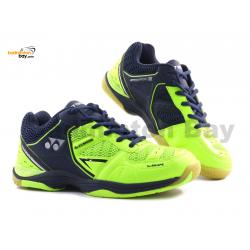 Yonex Aero Comfort 2 Neon Lime Navy Badminton Shoes With Tru Cushion Technology