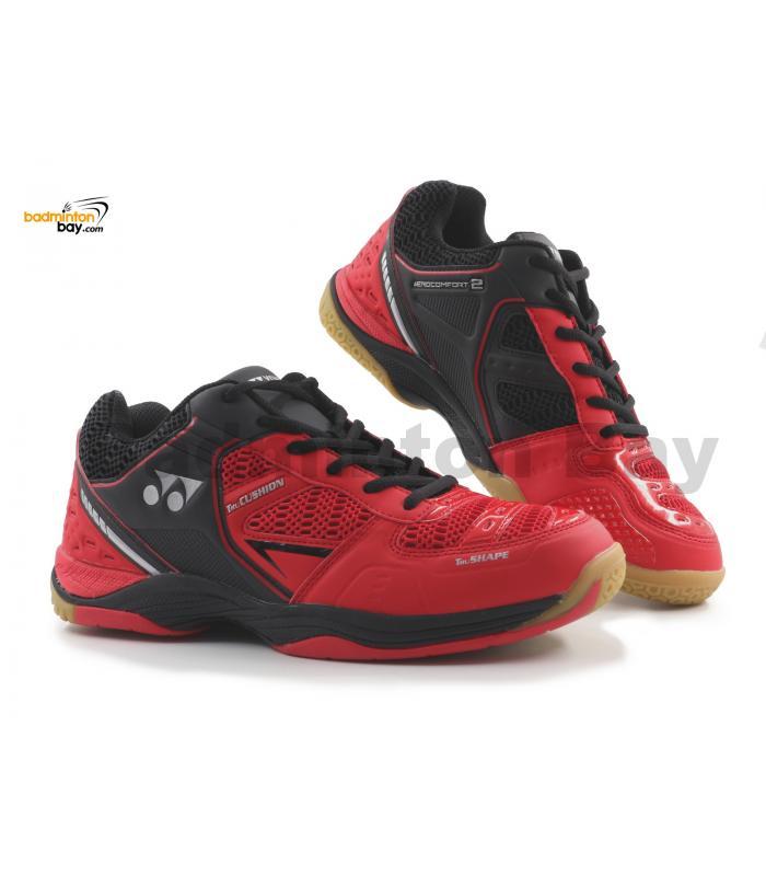 Yonex Aero Comfort 2 Red Black Badminton Shoes With Tru Cushion Technology