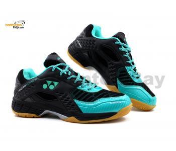 Yonex Hydro Force Black Turquoise Badminton Shoes With Tru Cushion
