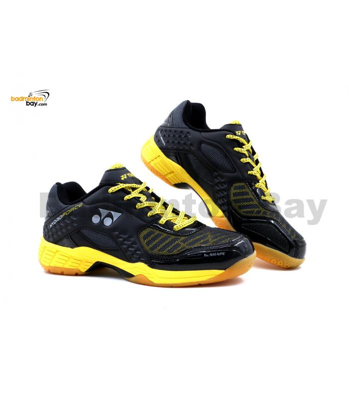 Yonex Hydro Force Black Yellow Badminton Shoes With Tru Cushion