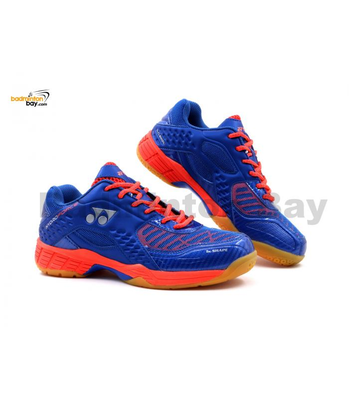 Yonex Hydro Force Navy Orange Badminton Shoes With Tru Cushion
