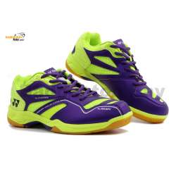 Yonex SRCR CFM Purple Lime Green Badminton Shoes With Tru Cushion