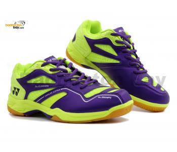 Yonex SRCR CFM Purple Lime Green Badminton Shoes With Tru Cushion