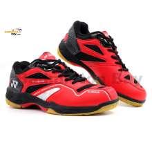 Yonex SRCR CFM Red Black Badminton Shoes With Tru Cushion