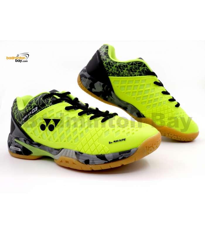 Yonex Super Ace 03 Lime Yellow Badminton Shoes With Tru Cushion
