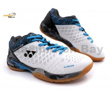 Yonex Super Ace 03 White Badminton Shoes With Tru Cushion