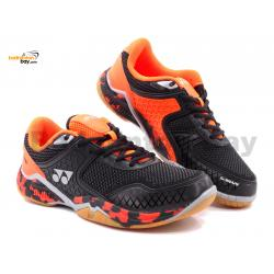Yonex Super Ace V Black Orange Indoor Badminton Court Sports Shoes With Tru Cushion