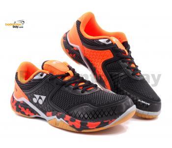 Yonex Super Ace V Black Orange Indoor Badminton Court Sports Shoes With Tru Cushion