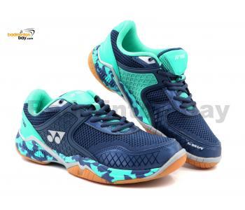 Yonex Super Ace V Dark Blue Indoor Badminton Court Sports Shoes With Tru Cushion