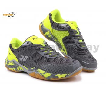 Yonex Super Ace V Grey Lime Indoor Badminton Court Sports Shoes With Tru Cushion