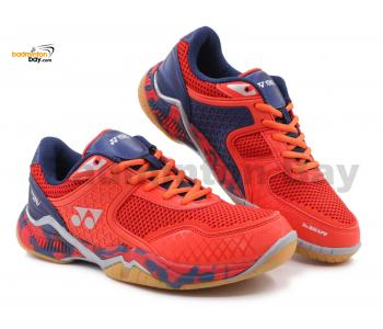Yonex Super Ace V Red Navy Indoor Badminton Court Sports Shoes With Tru Cushion
