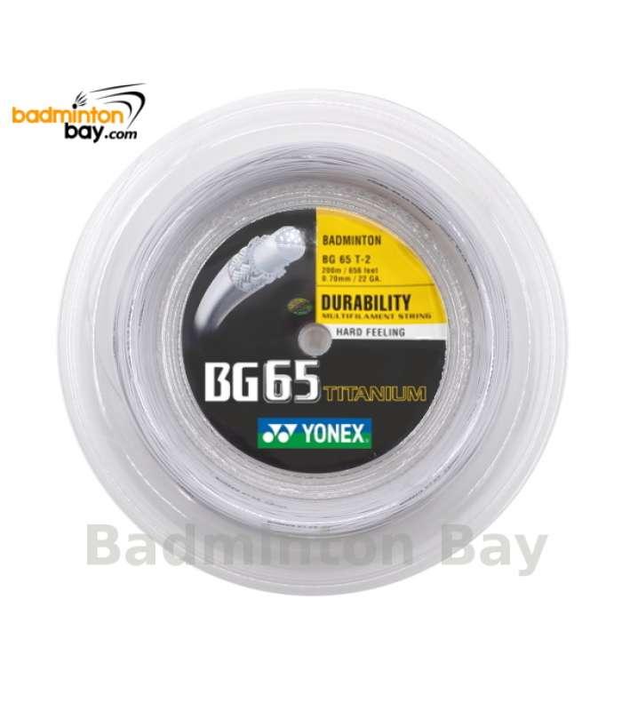 200m Reel Coil Yonex BG65Ti (0.70mm) Badminton String Made in Japan