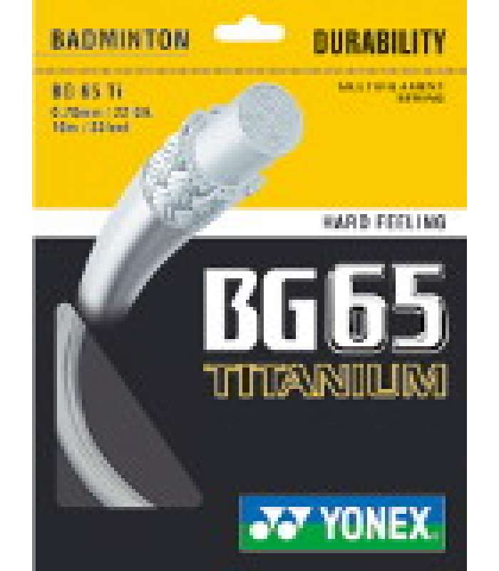 ~Out of Stock~ Yonex BG65 Ti Badminton String