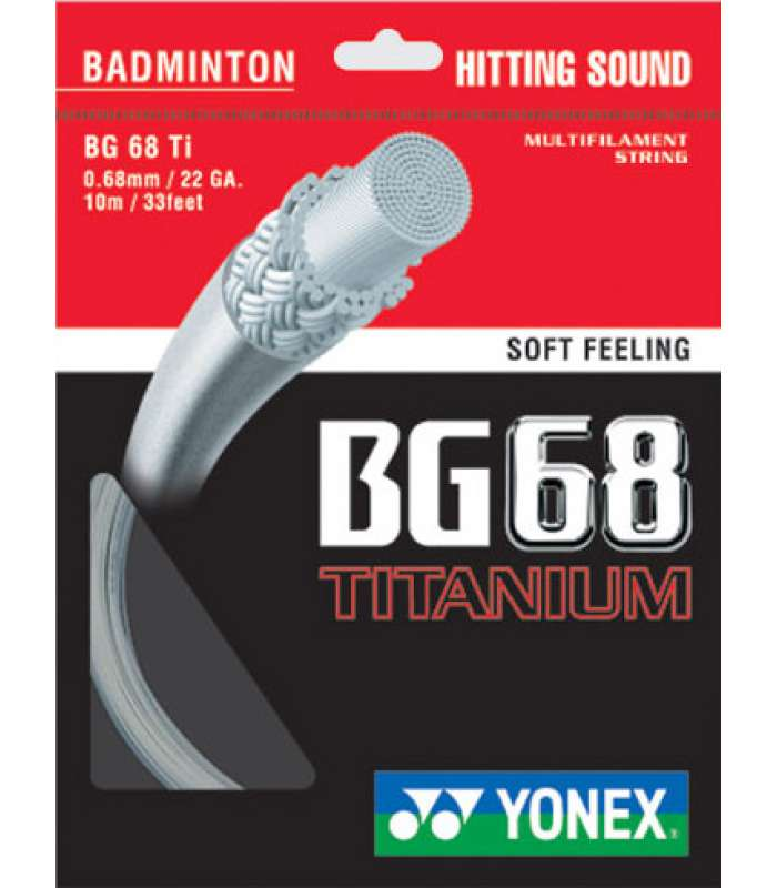 ~Out of stock Yonex BG68 Titanium  Badminton String (BG68Ti)