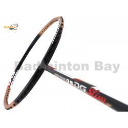 20% OFF Yonex Voltric 0.9DG Slim Black Gold Durable Grade Badminton Racket VT09DGSLEXGO (3U-G5) Strung with Black Abroz DG67 Power String @ 23/24 lbs (refer pictures)