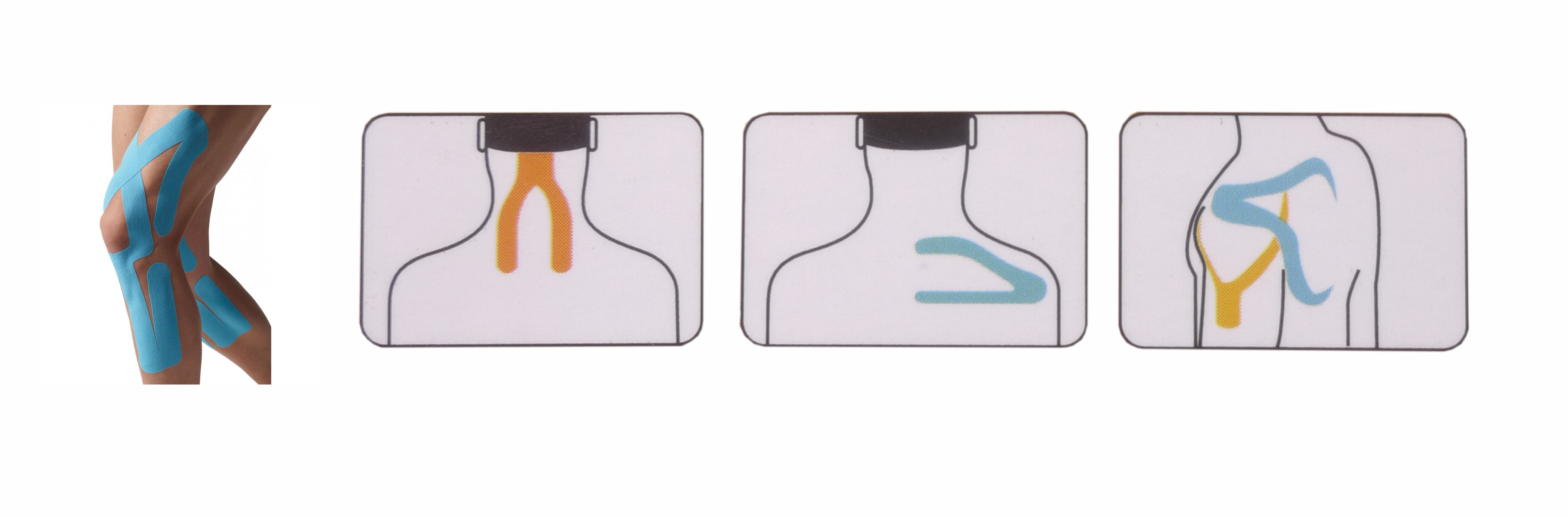 Apacs Pre-cut Y Shape Kinesio Elastic Tape Therapeutic for ...